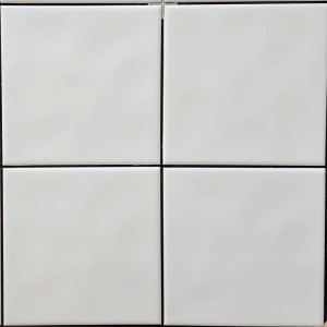 Contract White 15x15cm White Gloss Bumpy