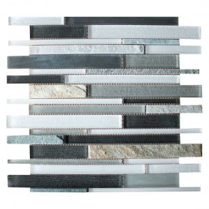 Glass Mosaic 30.2x30.2cm Grey